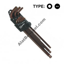 9 PCS/SET LONG BALL POINT HEX KEY
