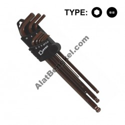 9 PCS/SET EXTRA LONG BALL POINT HEX KEY